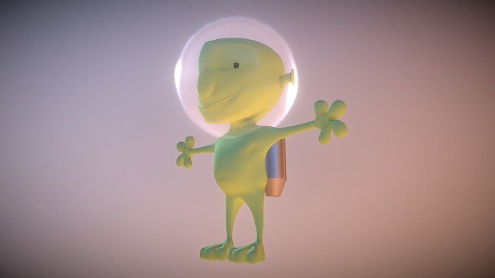 Alien - Videogame character 01 3D Model