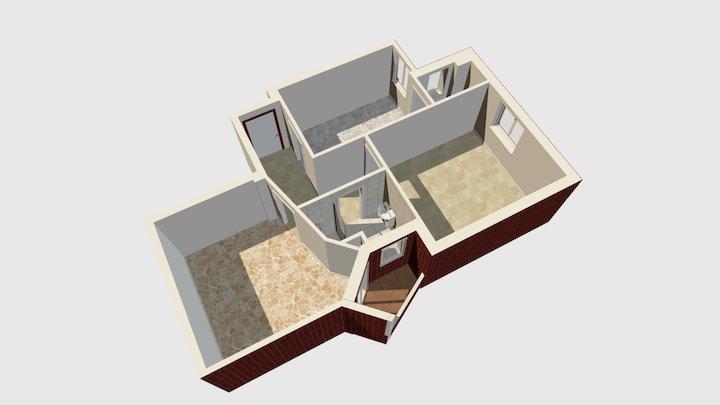 Via Rosselli Milano trilocale 3D Model