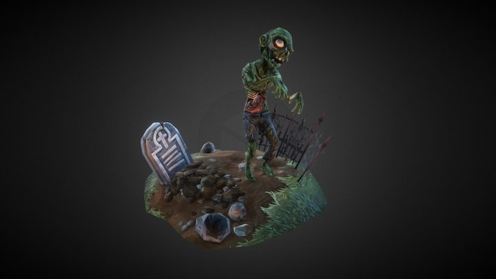 Lowpoly Zombie 3D Model