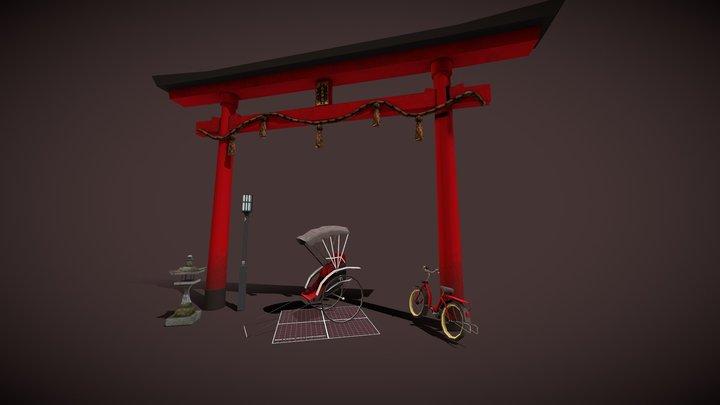 City Scene 2019 Props 3D Model