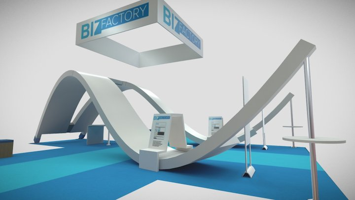 Exhibition Booth 3D Model