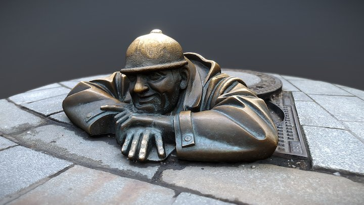 "Sculpture ""Čumil"" | Bratislava 3D Model"