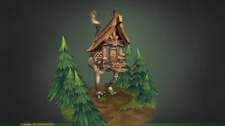 La Maison Ambulante 3D Model