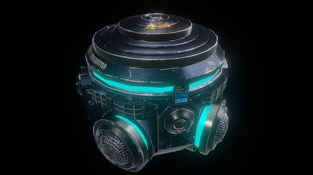 Sci Fi Gravity Generator 3D Model