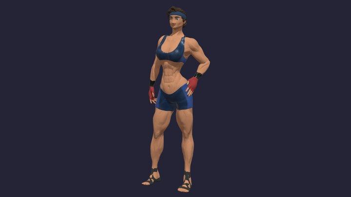 Chibi or LowPoly Stylised Character - Jordan 3D Model