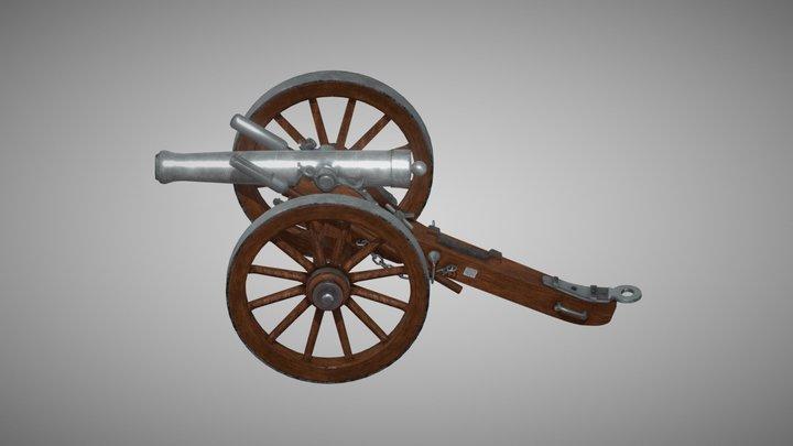 1861 Dahlgren Cannon (Civil War) 3D Model