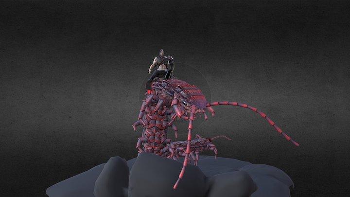 Centipede Rider 3D Model