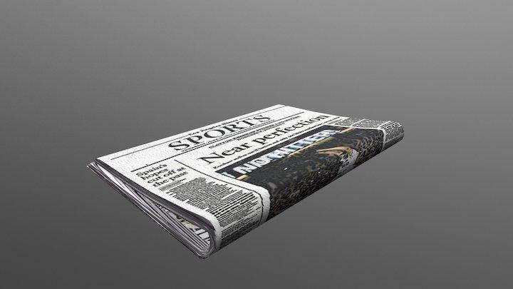 Folded Newspaper 3D Model