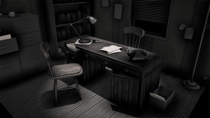 Investigator Office 3D Model