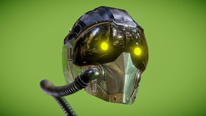Vulture's helmet MCU version 3D Model