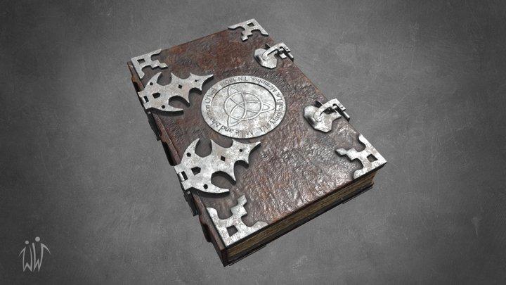 Old spell book 3D Model