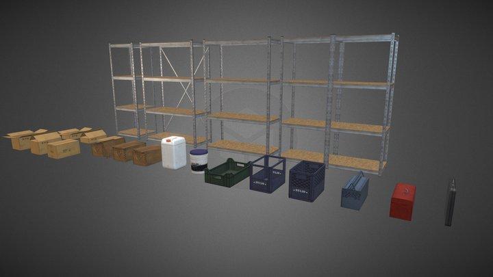 Storage Assets Pack 3D Model