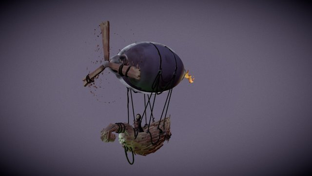 Airship of the Dead 3D Model