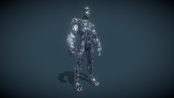 WIRE-CYBORG 3D Model