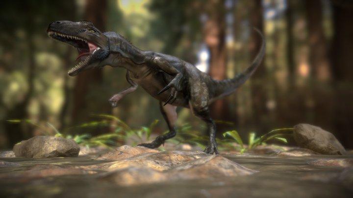 Alossaurus Scene Blender 3D Model