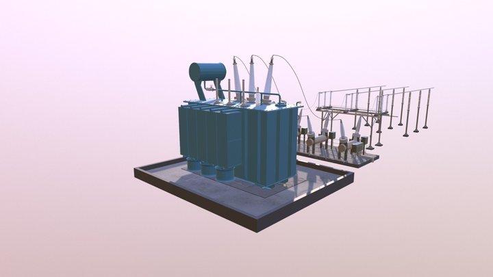 Substation: Transformer 3D Model