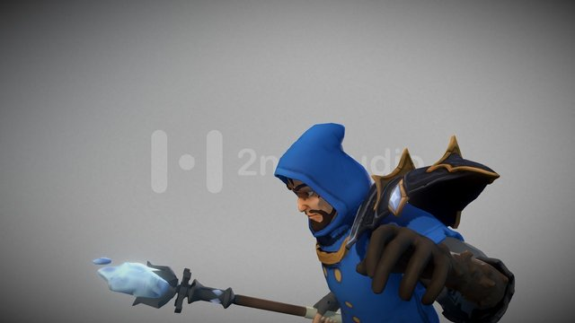 Baruus the Mage - BattleSouls Character 3D Model