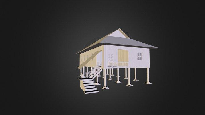 Khmer House (Old Model) 3D Model