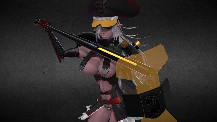 ツバキ (DEATH BALL) - HobbyJAPAN 3D Model