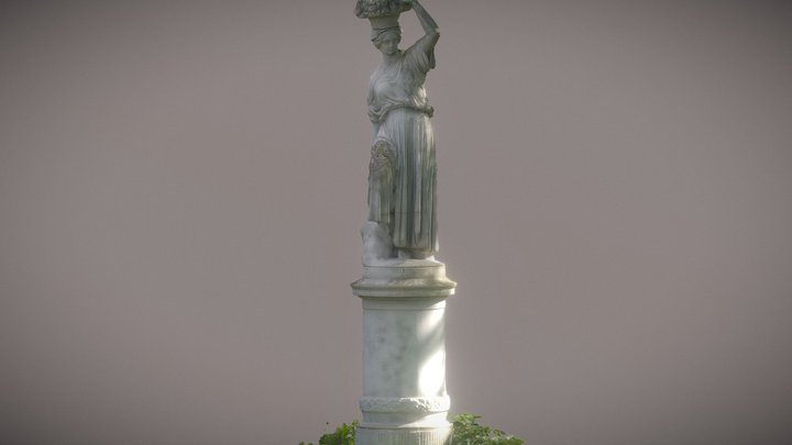 Winzer Statue 3D Model