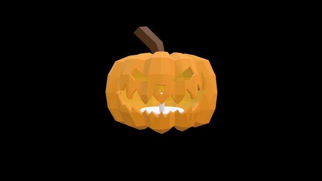 Carved Pumpkin 3D Model