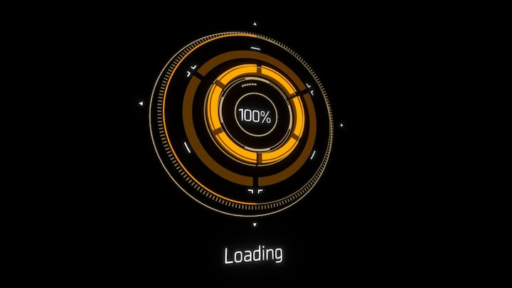 loading screen 3D Model