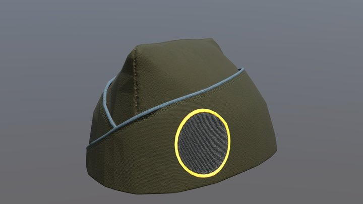 Garrison side cap with patch 3D Model