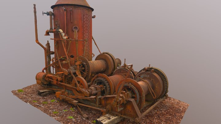 Steam Donkey 3D Model