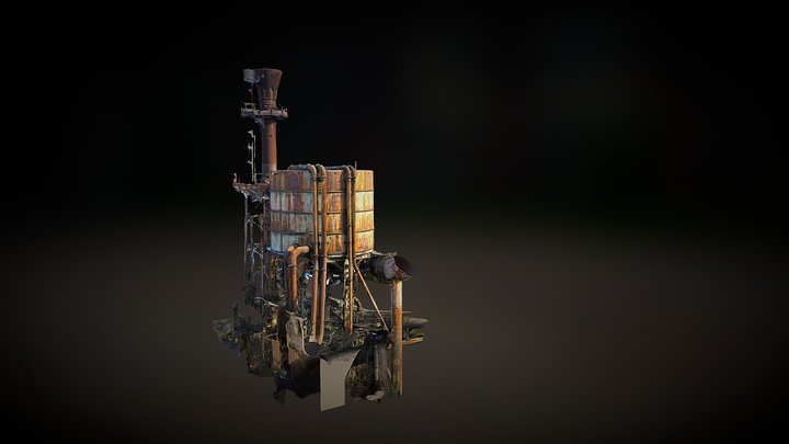 A Rusted Place (wasteland) 3D Model