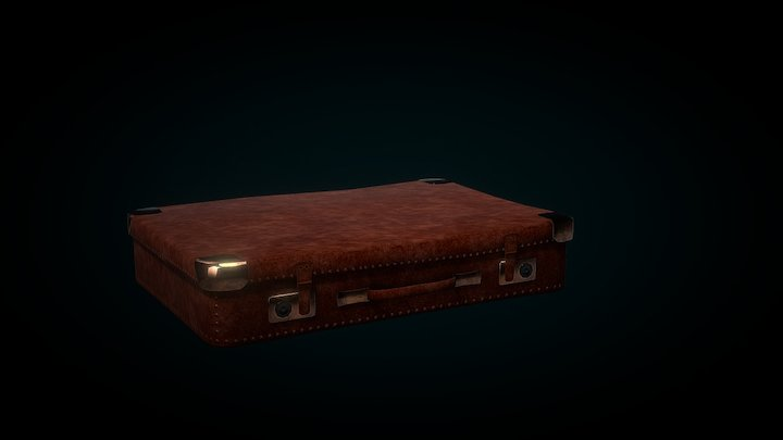 Old Fashioned Suitcase 3D Model