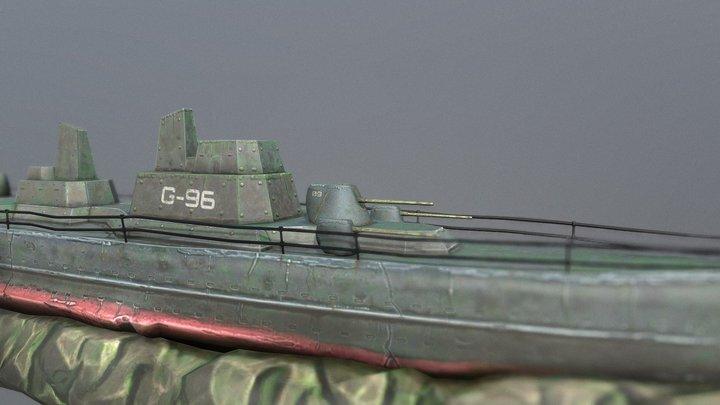 Battleship Shipwreck 3D Model
