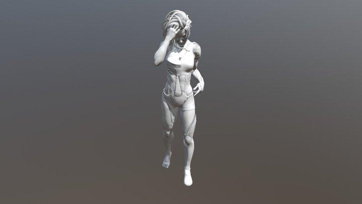 Iron Girl 3D Model