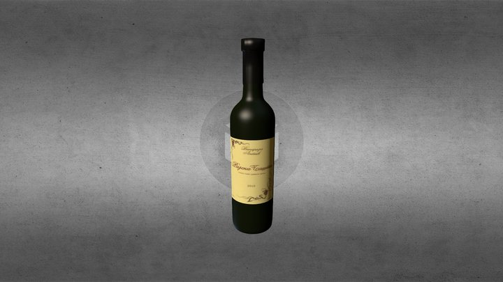 wine bottle Rajska basta 3D Model