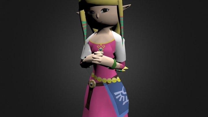 Chibi Skyward Sword Zelda 3D Model