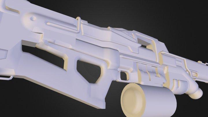 Destiny LMG Low Poly.obj 3D Model