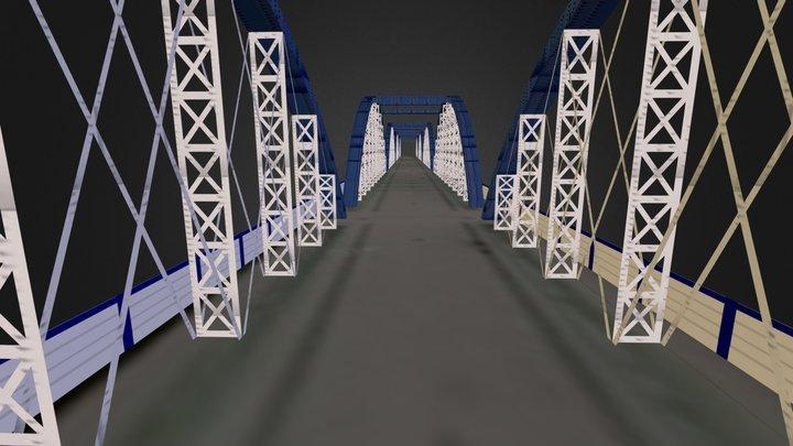 Puente de Hierro Zaragoza 3D Model