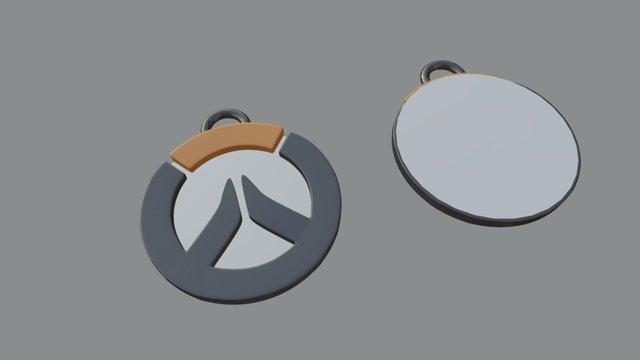 Overwatch Keychain 3D Model