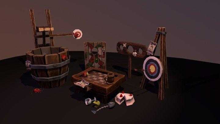 Village Assets 3D Model