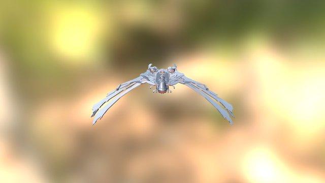 Aehallh Class Nightmare Scimitar Open Wings 3D Model