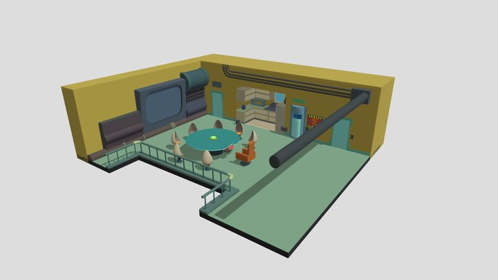 ISO Room Assignment - Futurama Conference Room - 3D Model