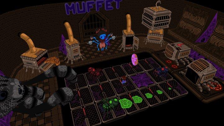 Undertale miss Muffet Boss Battle (Delta Ex) 3D Model