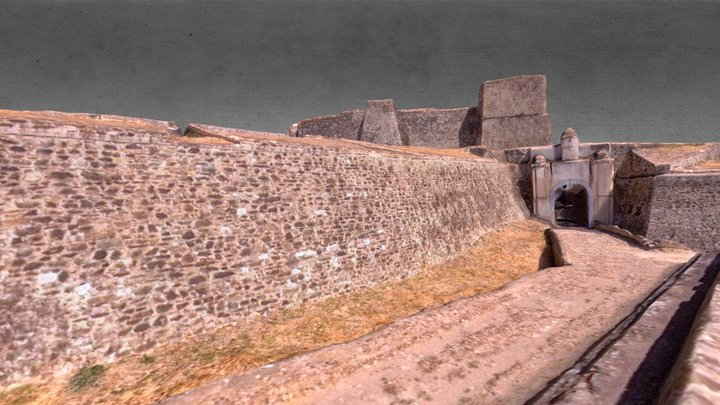 Castle in Juromenha, Portugal 3D Model