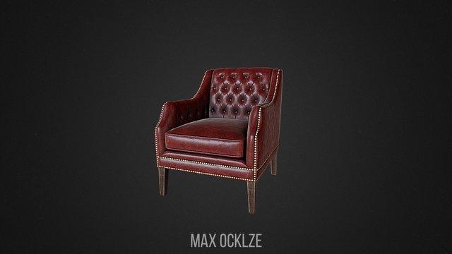 HQ Classic Armchair 3D Model