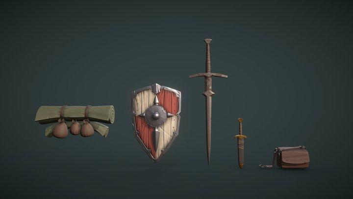 Runestone Camp   Assets 3D Model