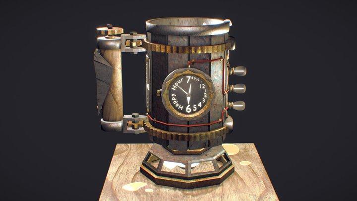 Steampunk Beer Stein 3D Model