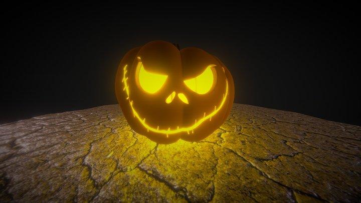 Halloween Jack O' Lantern 3D Model