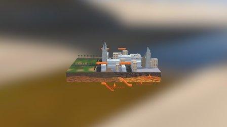 Earthquake Simulation 3D Model