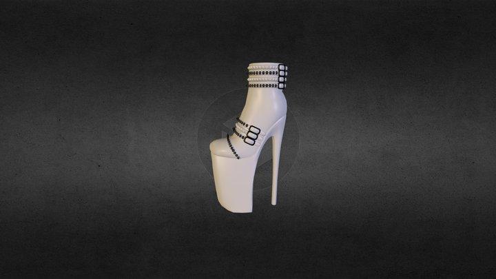 !!SpoiledLiLBrat!!Platform Heels Left Unrigged 3D Model