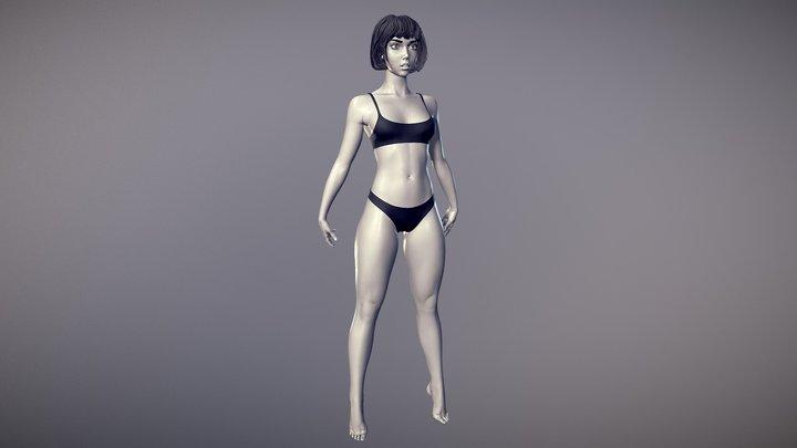 Female Basemesh 02 3D Model