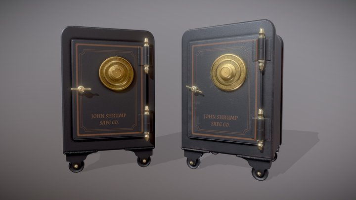 Vintage Safe (Clean and Dirty) 3D Model